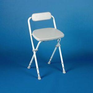Sherwood Folding Perching Shower Stool with Backrest