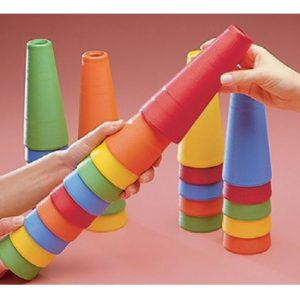 Textured Stacking Cones - Sensory Tools