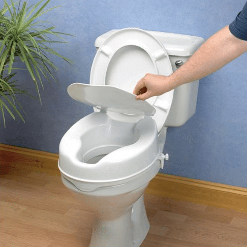 toilet seat no lid. Shop  Savanah Raised Toilet Seat With Or Without Lid Aged Care Store